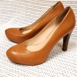 Franco Sarto Tan Heels Leather